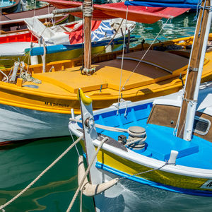 Blue & Yellow Boats