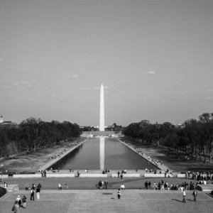 From The Steps Of The Lincoln Memorial